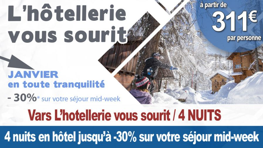 Vars 4 nuits hotellerie vous sourit